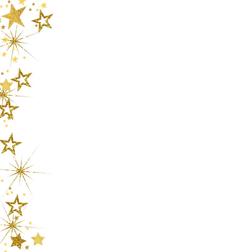 Kerstkaart vrolijke hippe fotokaart met goudkleurige sterren 2