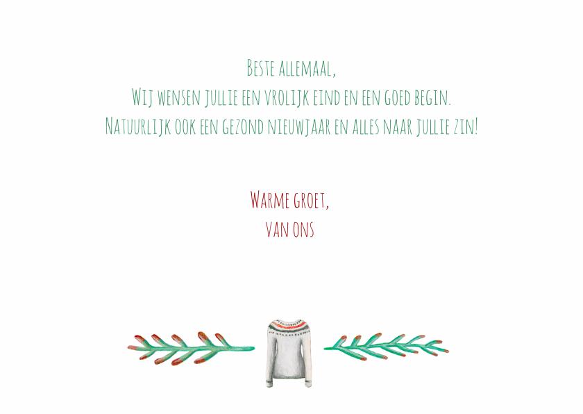 Kerstkaart warm wishes met illustraties 3