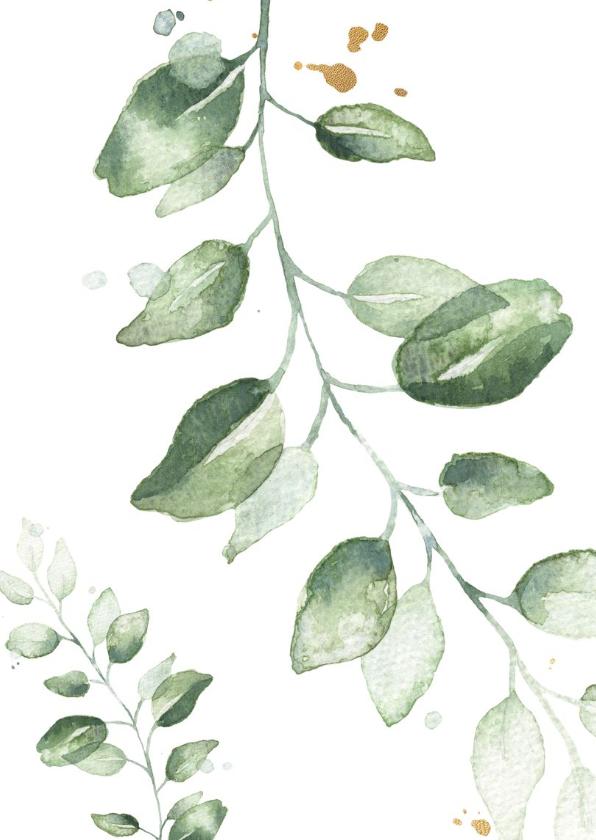 Kerstkaart waterverf mistletoe 2