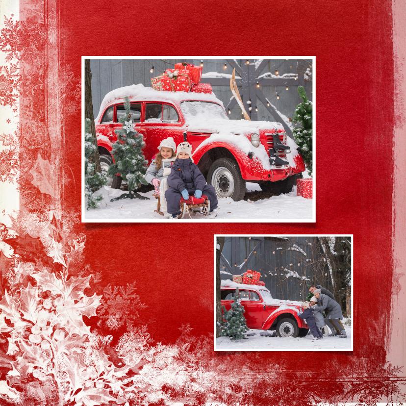 Kerstkaart wegwijzer rood - SG 2