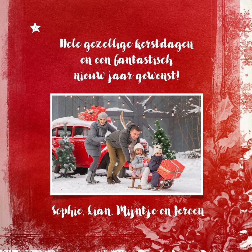 Kerstkaart wegwijzer rood - SG 3