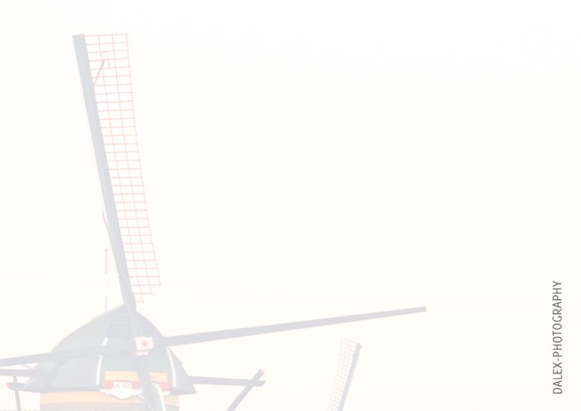 Kerstkaart- Winter Kinderdijk 2