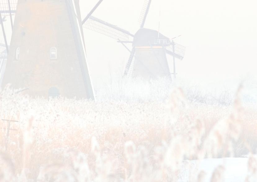 Kerstkaart- Winter Kinderdijk 3