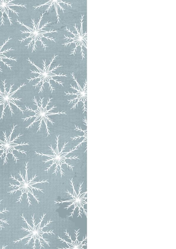 Kerstkaart winter met kristallen en foto 2
