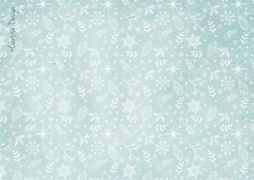 Kerstkaart Winter Sneeuwvlokken  2