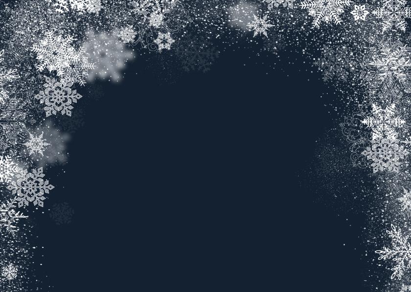 Kerstkaart winter staand grote foto - BK 2