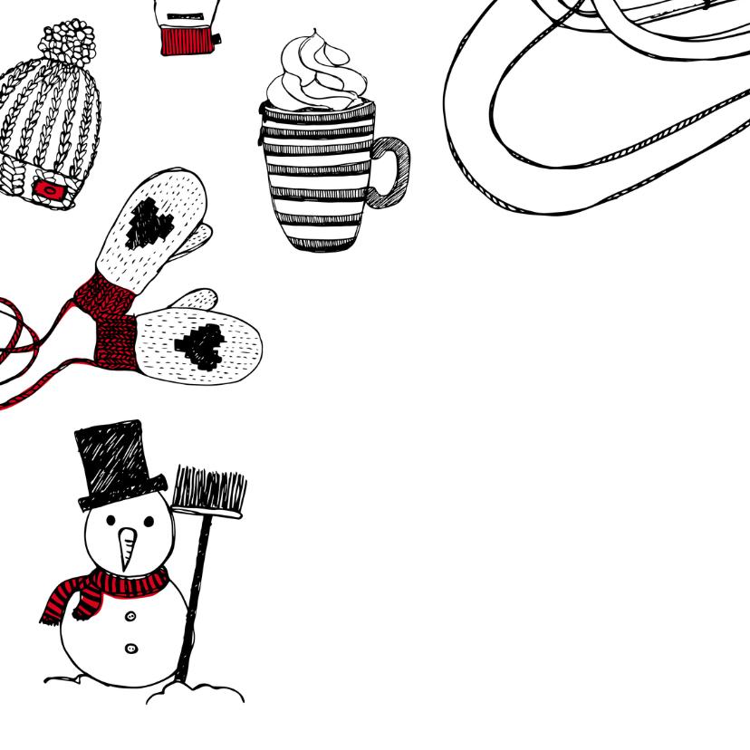 Kerstkaart winter tekeningen 2