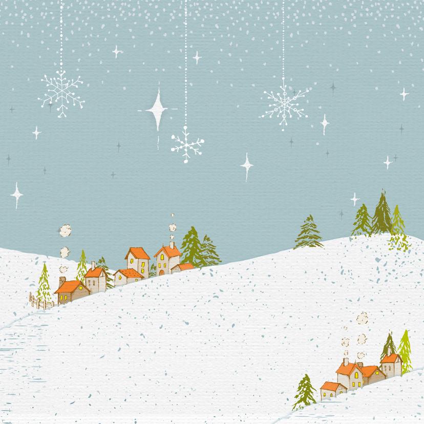 Kerstkaart winterwonderland 2
