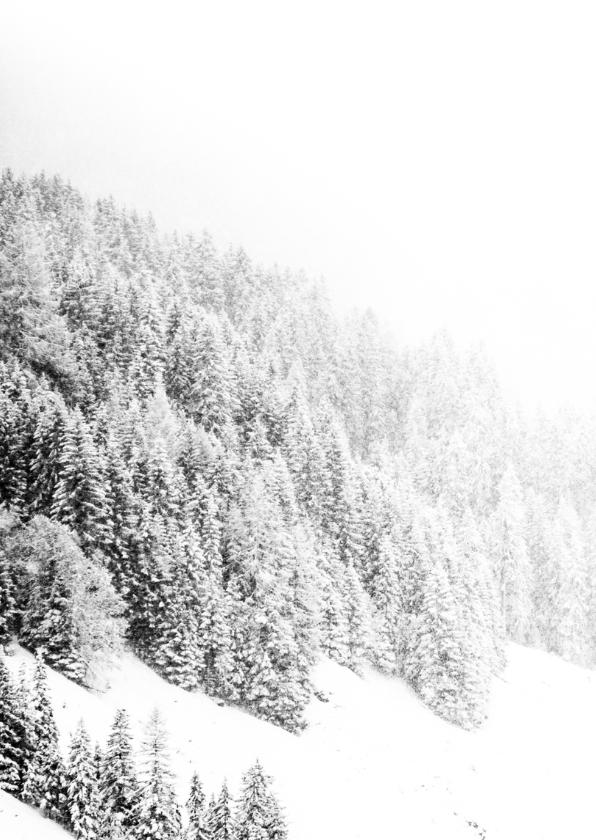 Kerstkaart witte kerst sneeuwkaart 2