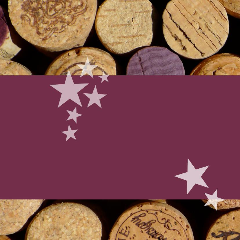 kerstkaart zakelijk wijn kurken 2