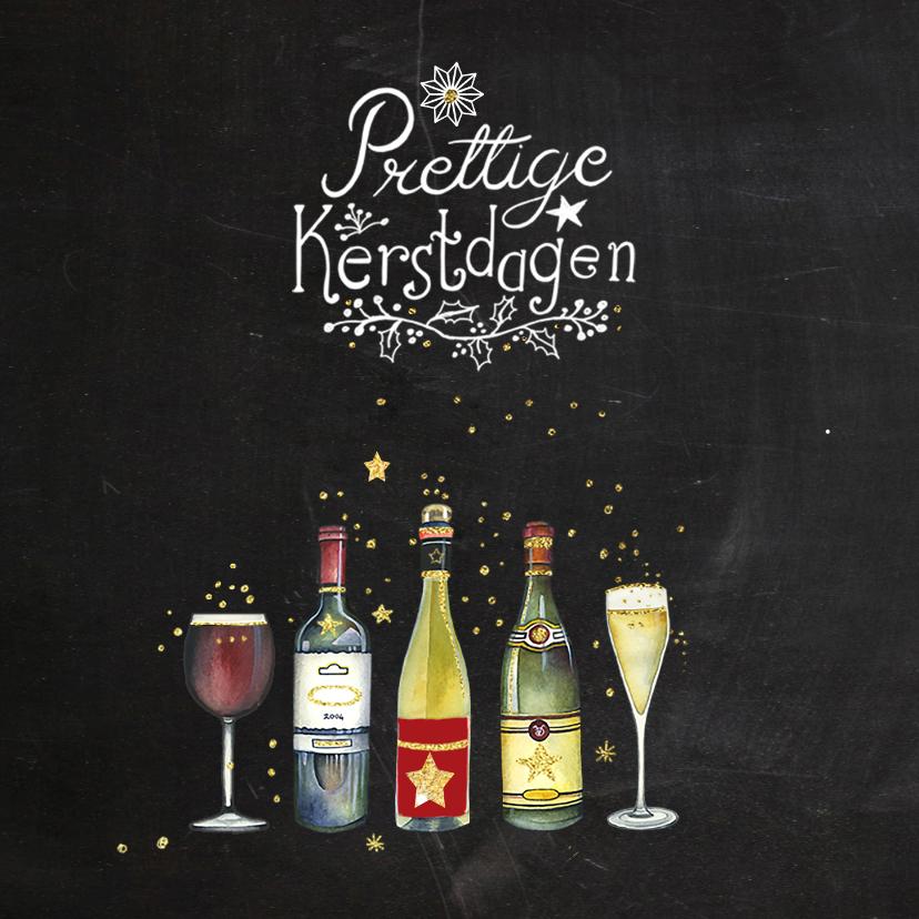 Kerstkaart zakelijk wijn 2