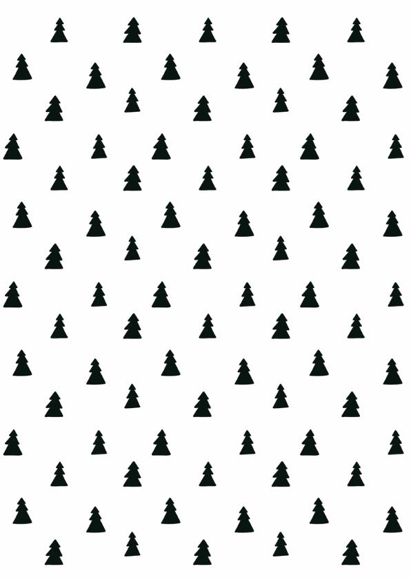Kerstkaart zakelijk zwartwit - WW 2