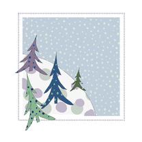 Kerstkaarten - Kerstkaarten sneeuwhelling YO