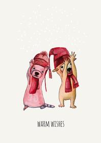 Kerstkaarten - Kerstkaarten-warme groet-KK
