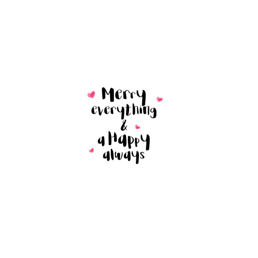 """""""Kerstkaartje hert in de sneeuw met roodborstje -SD"""
