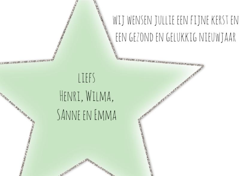 Kerstkaartje Stars - WW 3