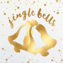 Kerstkaarten - Kerstklokken geel - BK