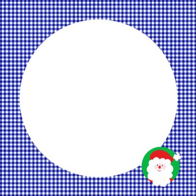Kerstman op blauw ruitje 3