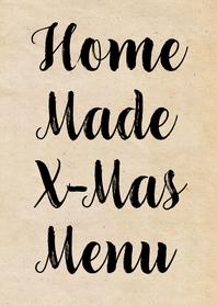 Menukaarten - Kerstmenu home made menu