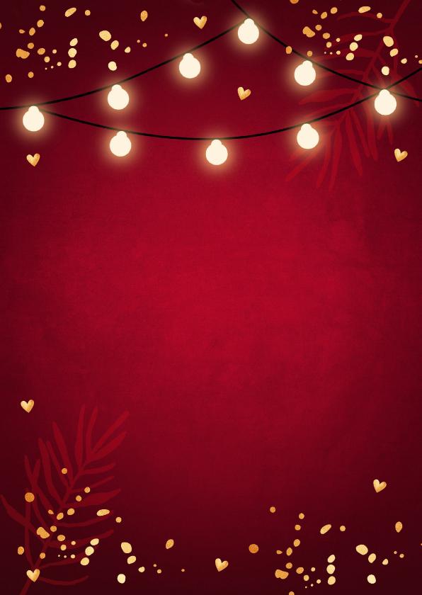 Kerstmenukaart rood design 2