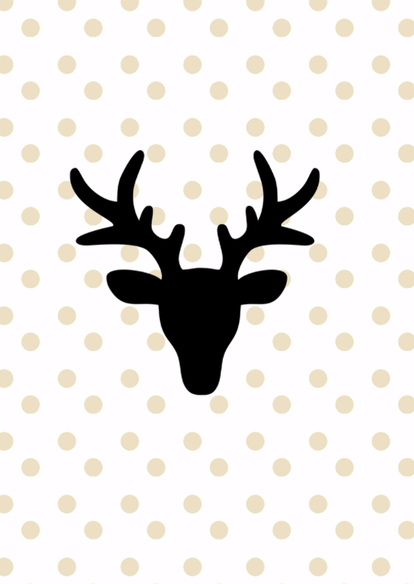 Kertkaart Reindeer 2