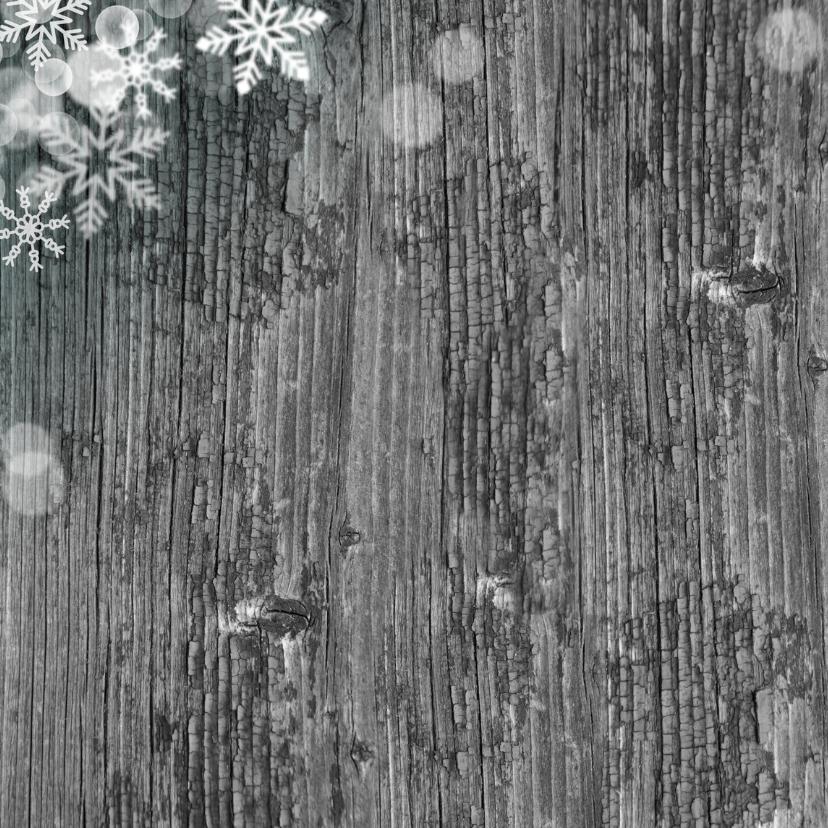 kertskaart ster vlokken lijn grijs 2