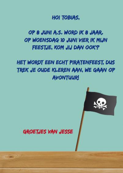 Kinderfeest piraat blauw 3