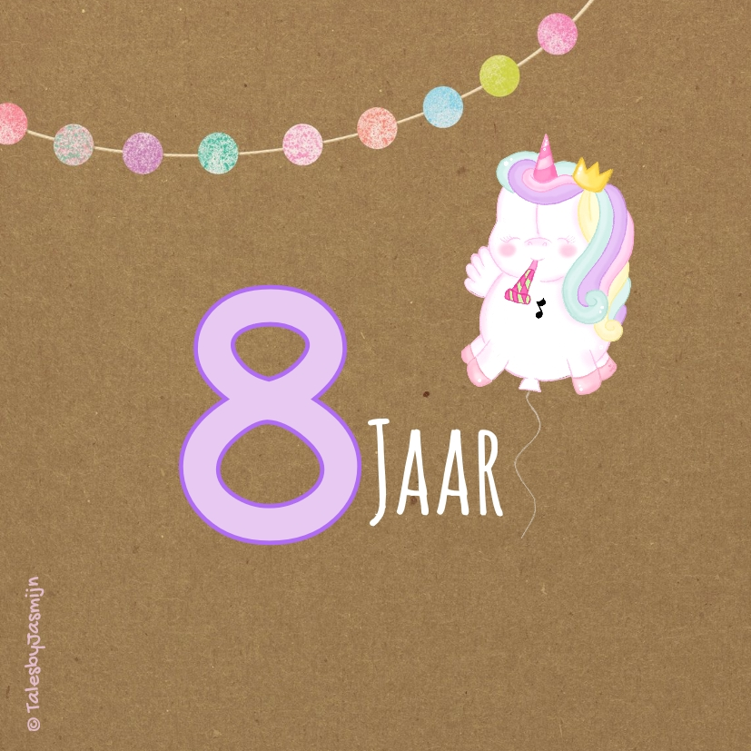 Kinderfeest Unicorn Ballon 2