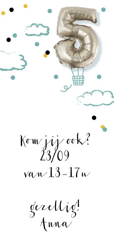 kinderfeestje 5 jaar folie luchtballon 3