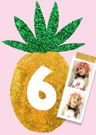 Kinderfeestjes - kinderfeestje ananas pasfoto