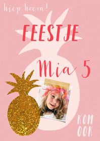 Kinderfeestjes - Kinderfeestje ananas roze goud