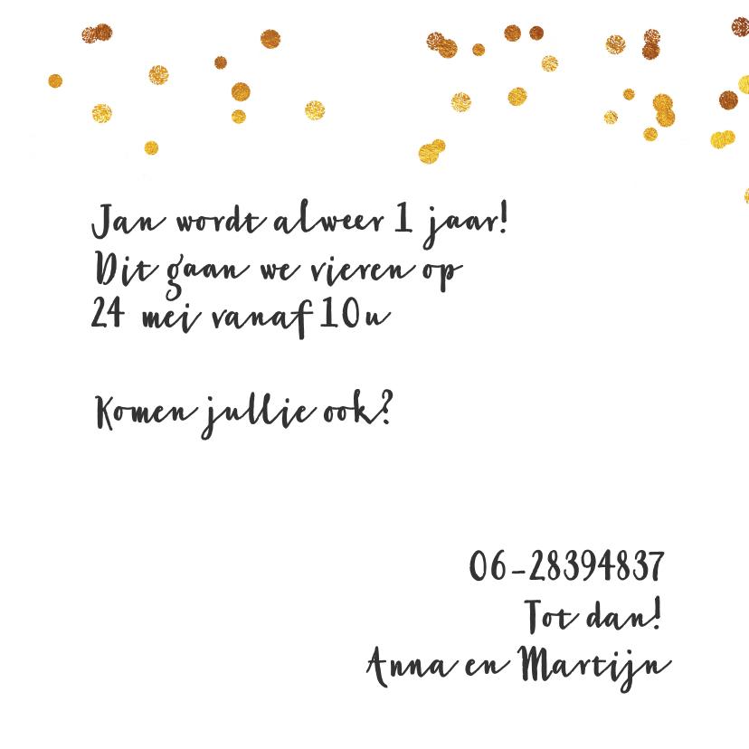 Kinderfeestje collagekaart met draad goud 1 3
