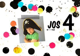Kinderfeestjes - Kinderfeestje confetti zwart-wit