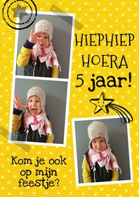 Kinderfeestjes - Kinderfeestje fotocollage geel