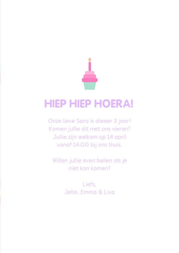 Kinderfeestje kaart met feestende unicorns 3