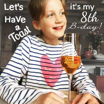 Kinderfeestjes - kinderfeestje tekst fotokaart