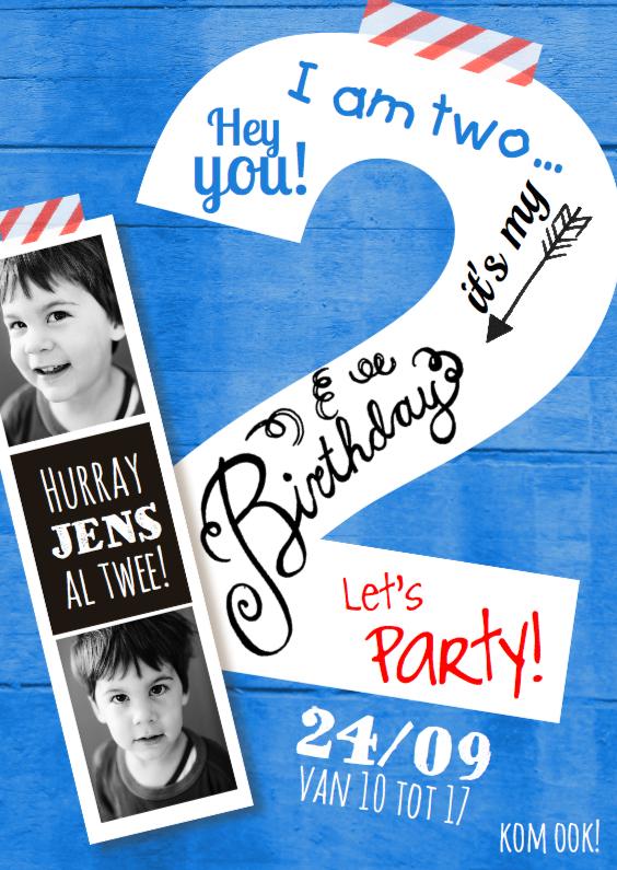 uitnodiging 2 jaar Kinderfeestje uitnodiging 2 jaar jongen | Kaartje2go uitnodiging 2 jaar