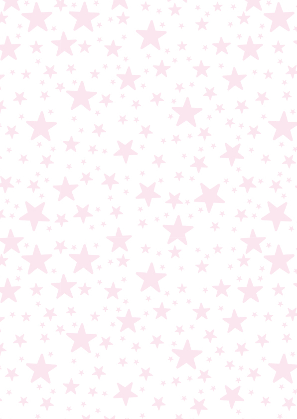 Kinderfeestje uitnodiging  houtlook sterren meisje 2
