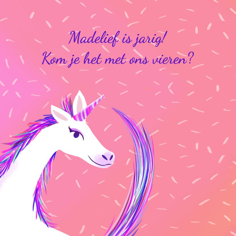 Kinderfeestje Unicorn met foto 2