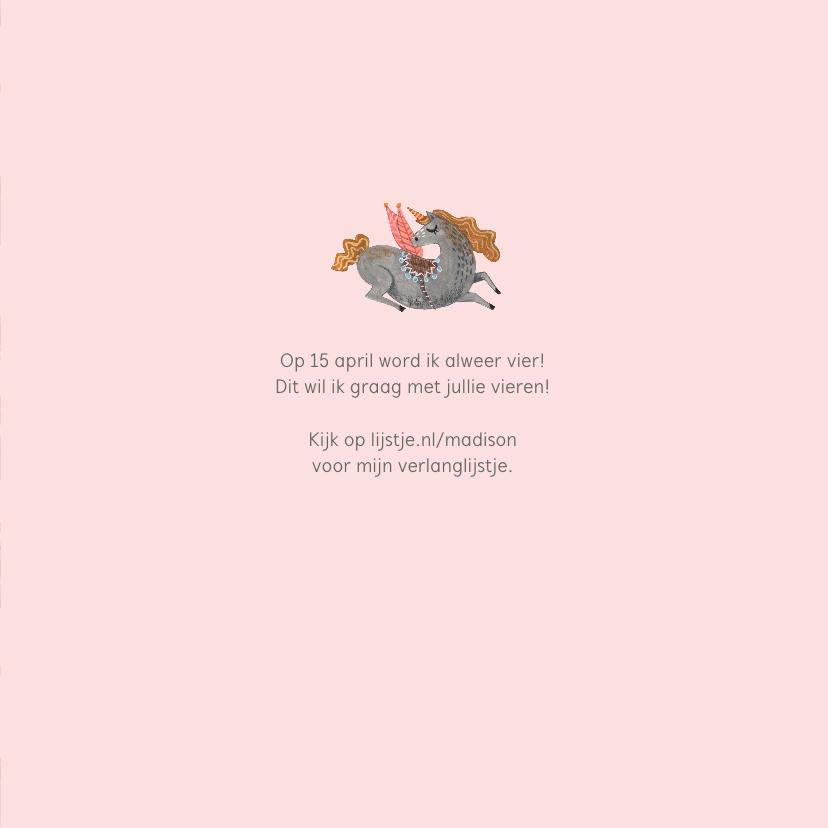 Kinderfeestje Unicorn Roze 3
