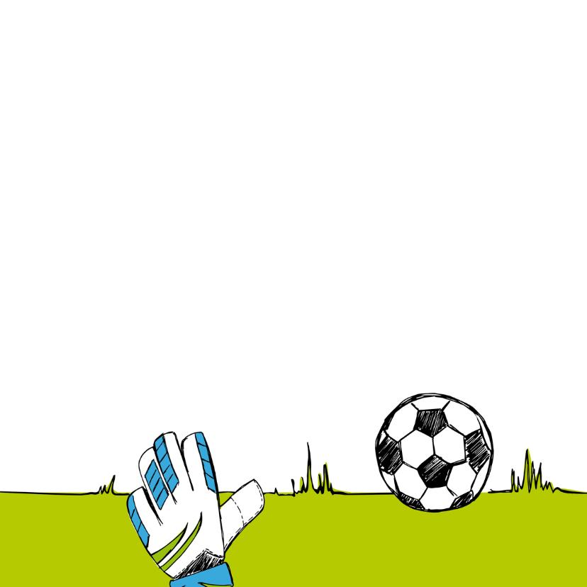 Kinderfeestje voetbal tekening 2