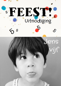 Kinderfeestjes - Kinderfeestje vrolijk zwart-wit