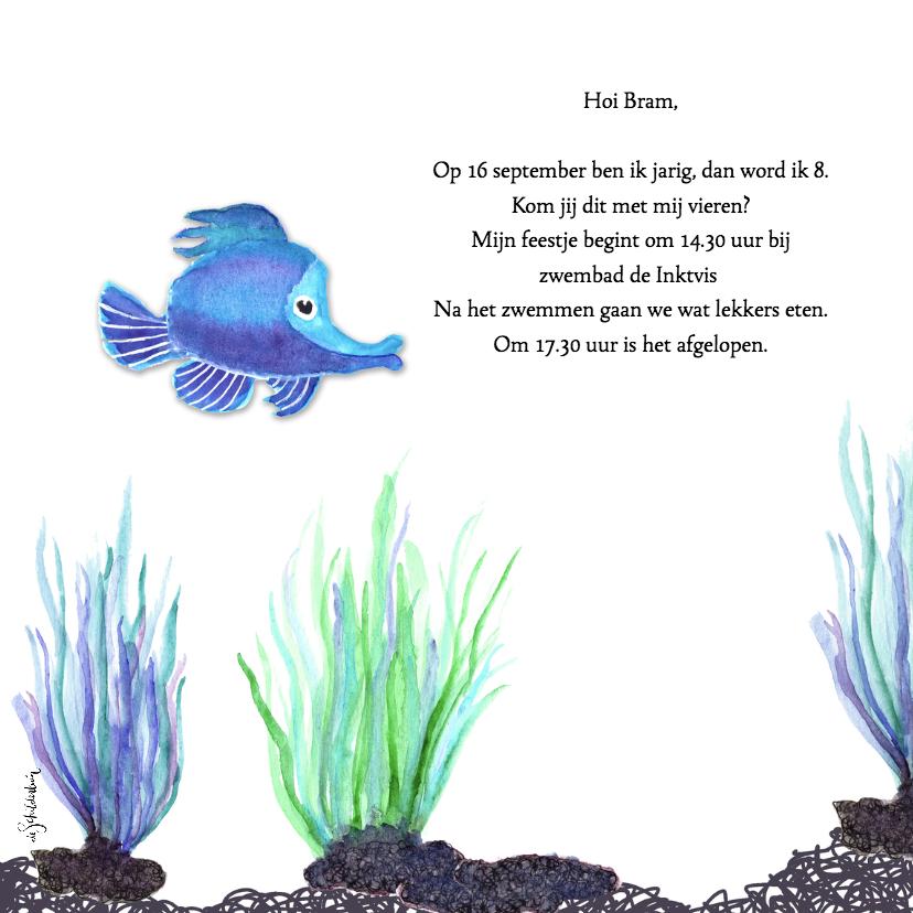 Kinderfeestje zwemmen vissen 2