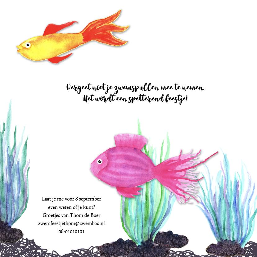 Kinderfeestje zwemmen vissen 3