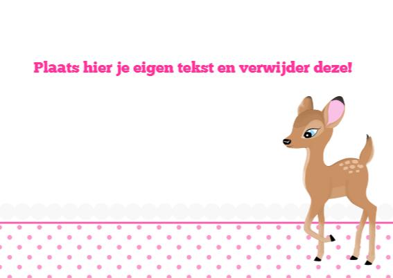 kinderfeestjes roze Hertje - ST 3
