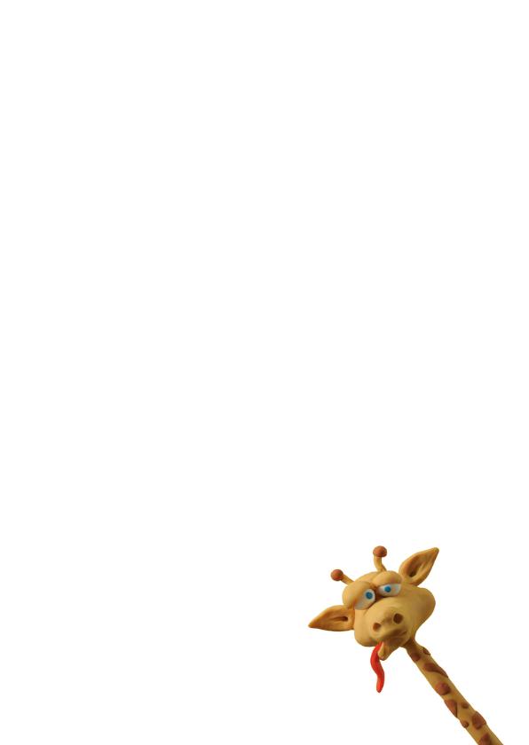 Kinderkaart gekke giraf 3