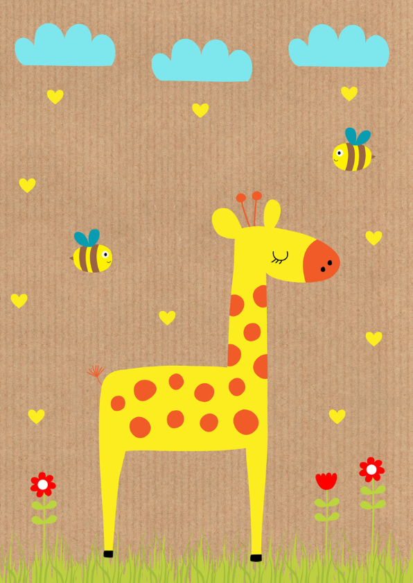 Kinderkaart giraf kraft 2