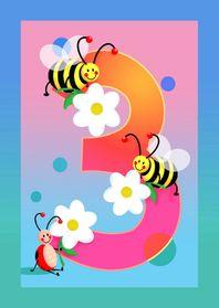 hoera 3 jaar kinderkaart Hoera 3 jaar   Verjaardagskaarten   Kaartje2go hoera 3 jaar