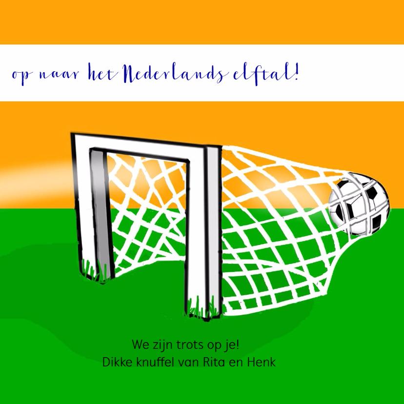 Kinderkaart - voetbal meisje 3