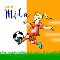 Kinderkaarten - Kinderkaart - voetbal meisje